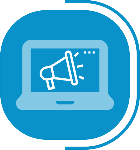 halaman fitur lengkap digital marketing - segmen OUR SERVICES - icon creation
