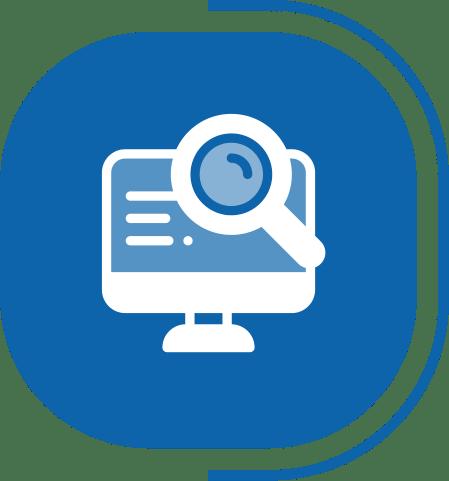 halaman fitur lengkap digital marketing - segmen OUR SERVICES - icon monitoring