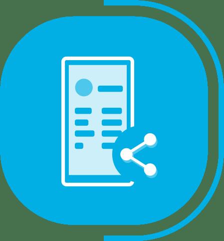 halaman fitur lengkap kasir - segmen Rapi, Profesional & Fleksibel - icon E-invoice ke WhatsApp & Email
