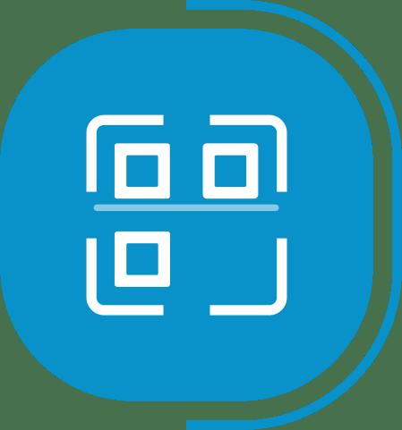 halaman fitur lengkap kasir - segmen transaksi Mudah & Cepat - icon QR Code & Barcode