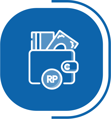 halaman fitur lengkap kasir - segmen transaksi Mudah & Cepat - icon beragam tipe pembayaran