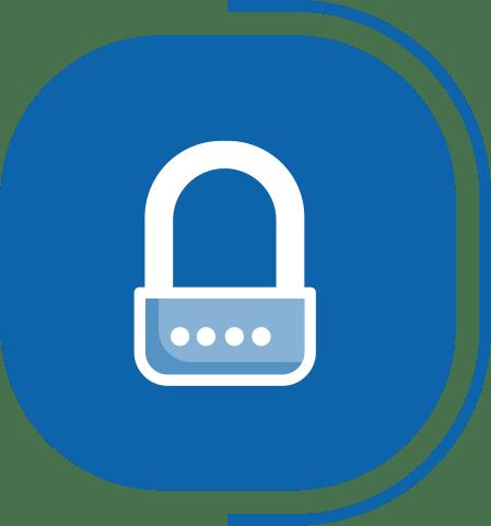 halaman fitur lengkap manajemen pengguna - segmen Usaha Berjalan AutoPilot dengan Aman - icon Keamanan Akses Outlet