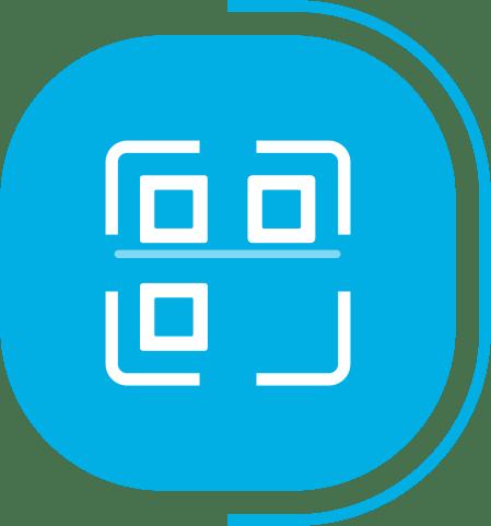 halaman fitur lengkap manajemen produk - segmen Kelola Produk Akurat Tanpa Batasan - icon Support QR Code & Barcode