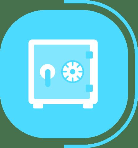 halaman layanan aplikasi kasir canggih - segmen kasir advance - icon kas & bank