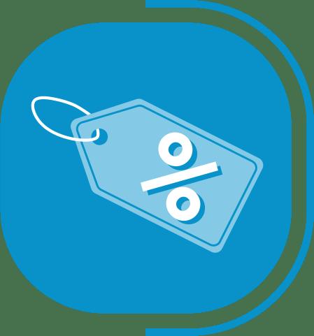 halaman layanan toko online instan - segmen toko online - icon manajemen promo diskon