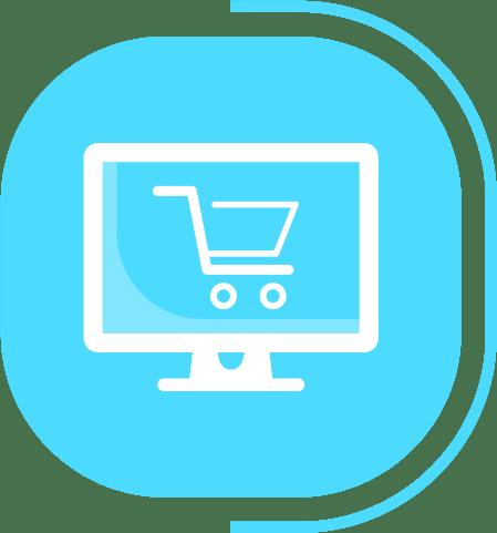 halaman layanan toko online instan - segmen toko online - icon website toko online
